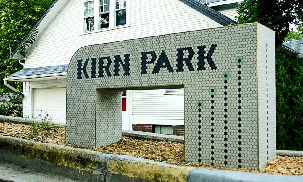 Our beautiful new Kirn Park Sign. May it stand for the ages.