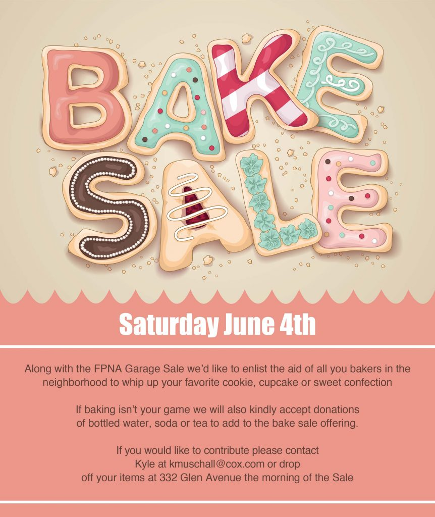 FPNA Bake Sale 2016 Flyer